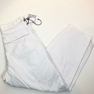 Pistola 26 White High Waisted Raw Hem Wide Jeans